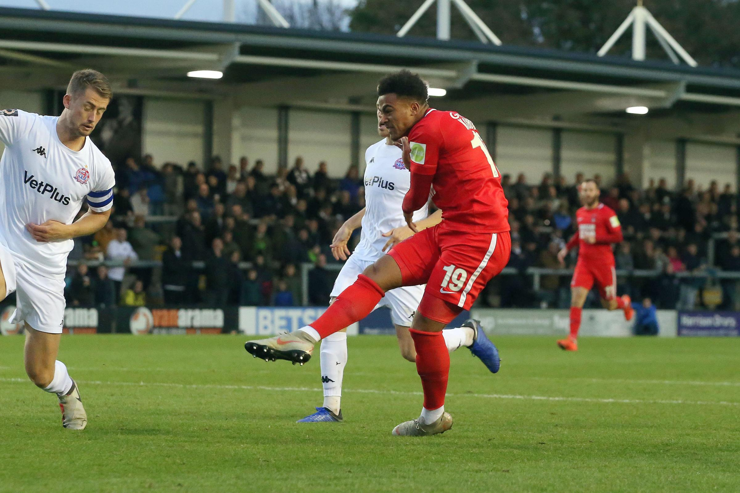 Justin Edinburgh praised Josh Koroma after the Leyton Orient youngster scored a brace against AFC Fylde on Saturday. Picture: Simon O'Connor.