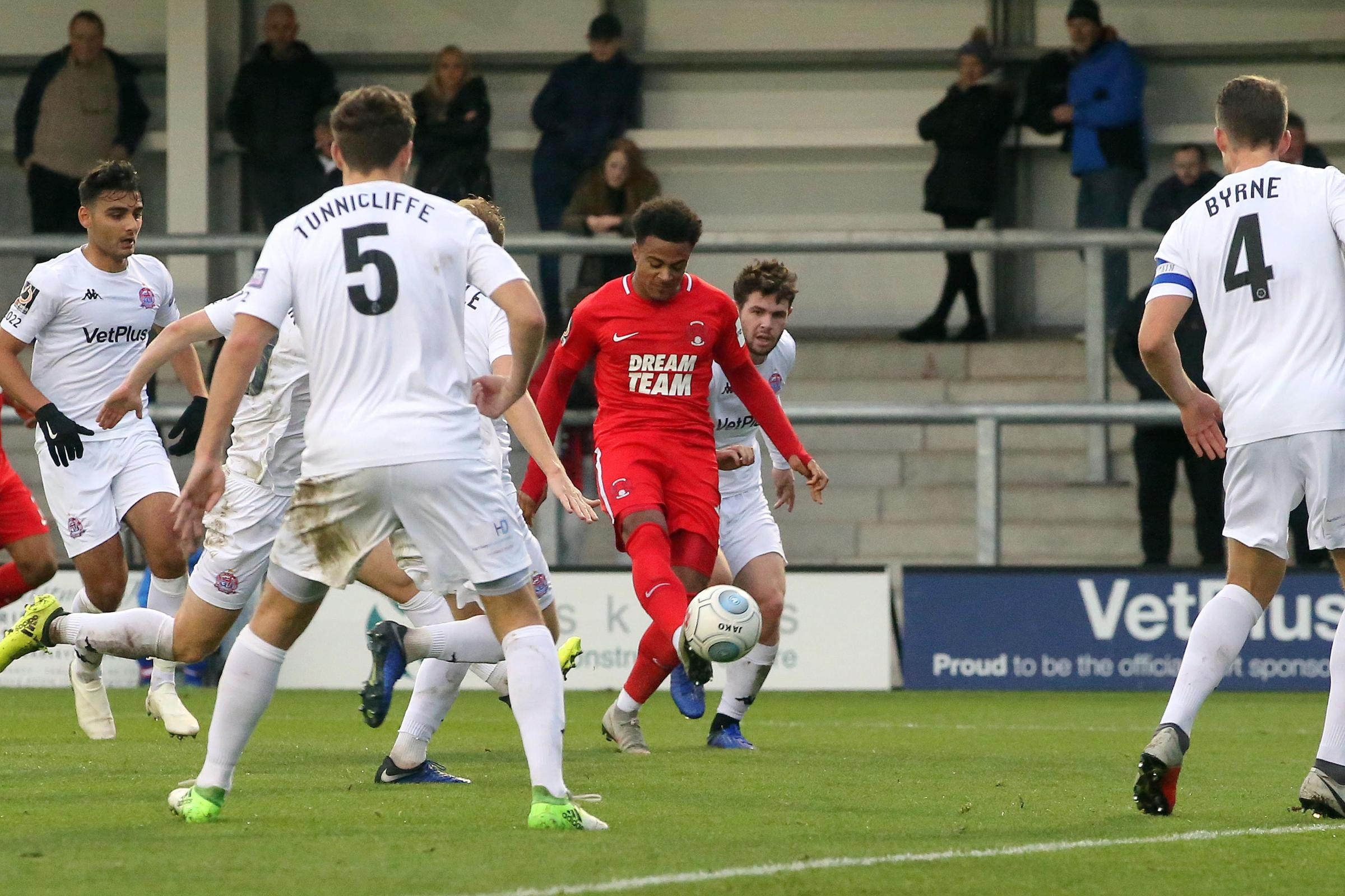 Josh Koroma says his first goal against AFC Fylde was one of the best of his career. Picture: Simon O'Connor.