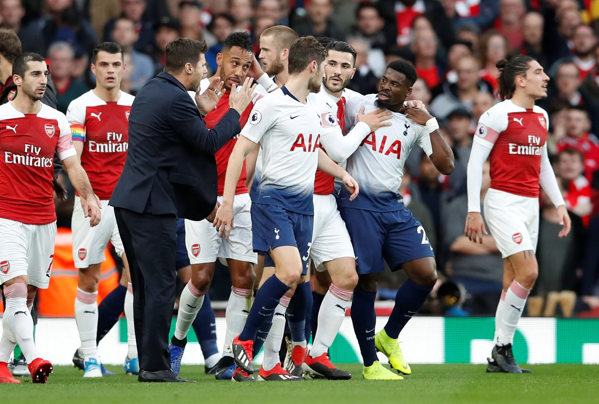 Mauricio Pochettino acted as peacemaker. Picture: Action Images