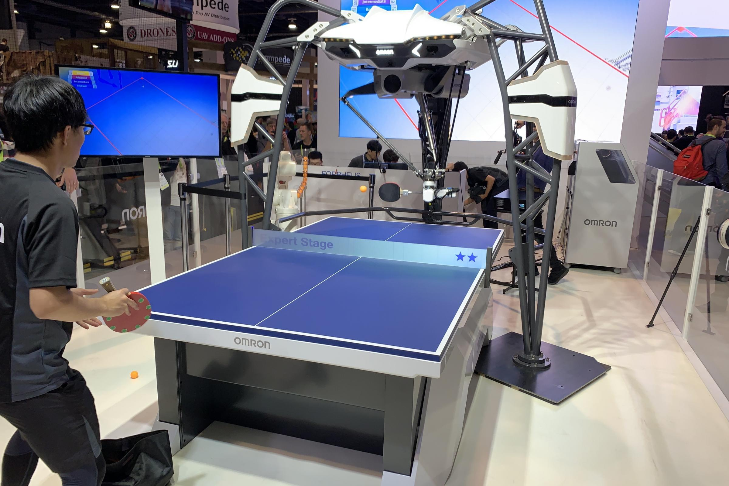The Omron artificial intelligence-powered FORPHEUS robot