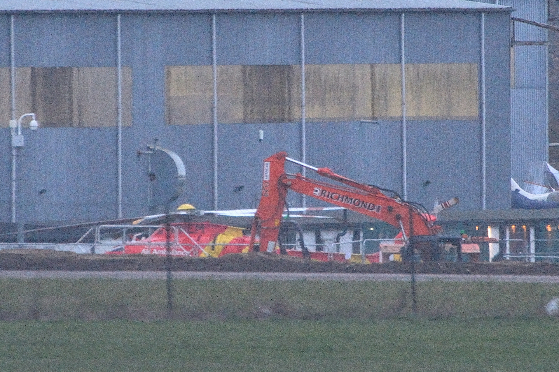 Work has started on the new Police helecopter base at North Weald Airfield. (27-1-2019) EL92408_01