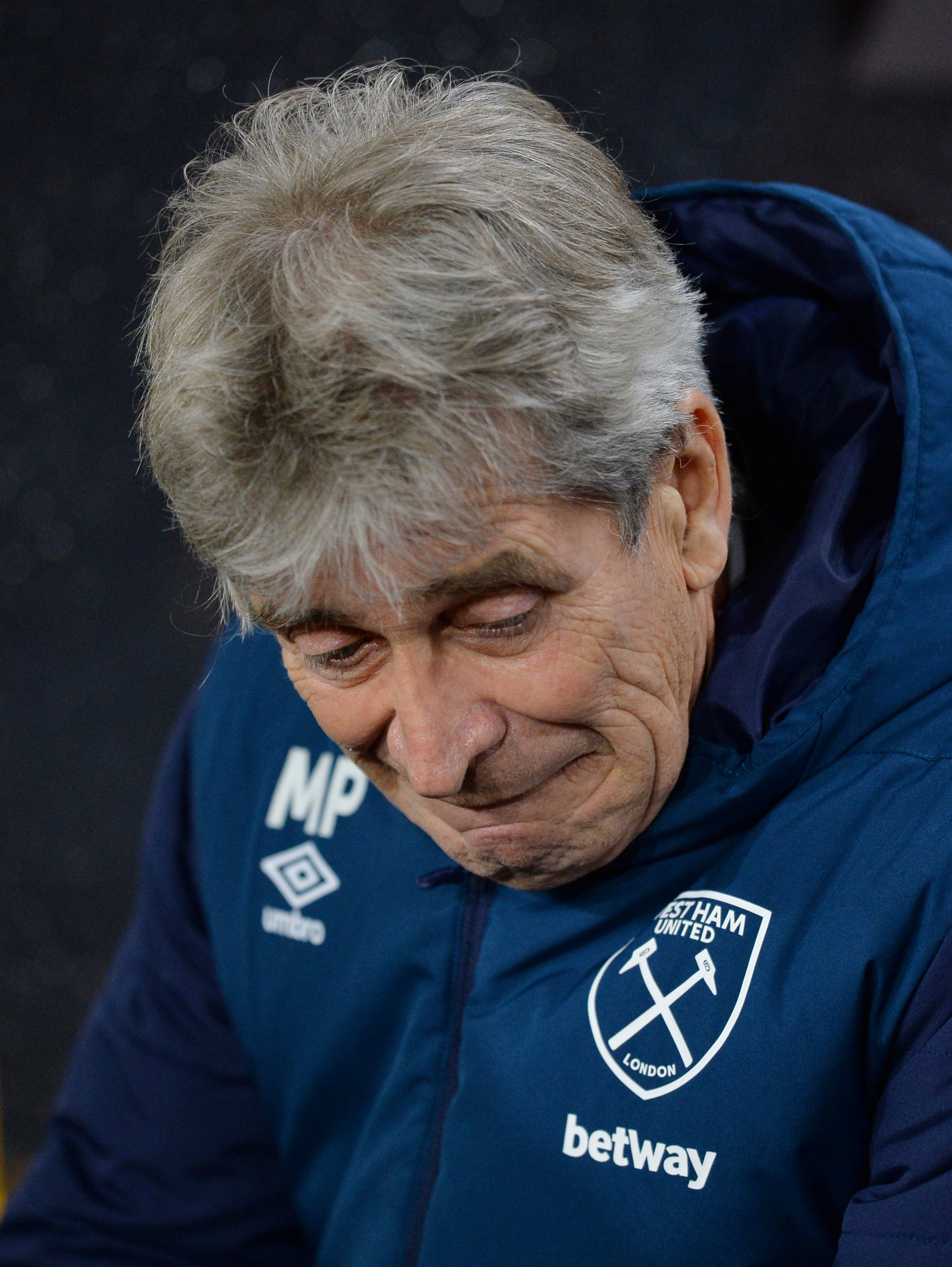 'We must understand what is happening': Manuel Pellegrini criticised his players following their defeat at Wolves. Picture: Action Images