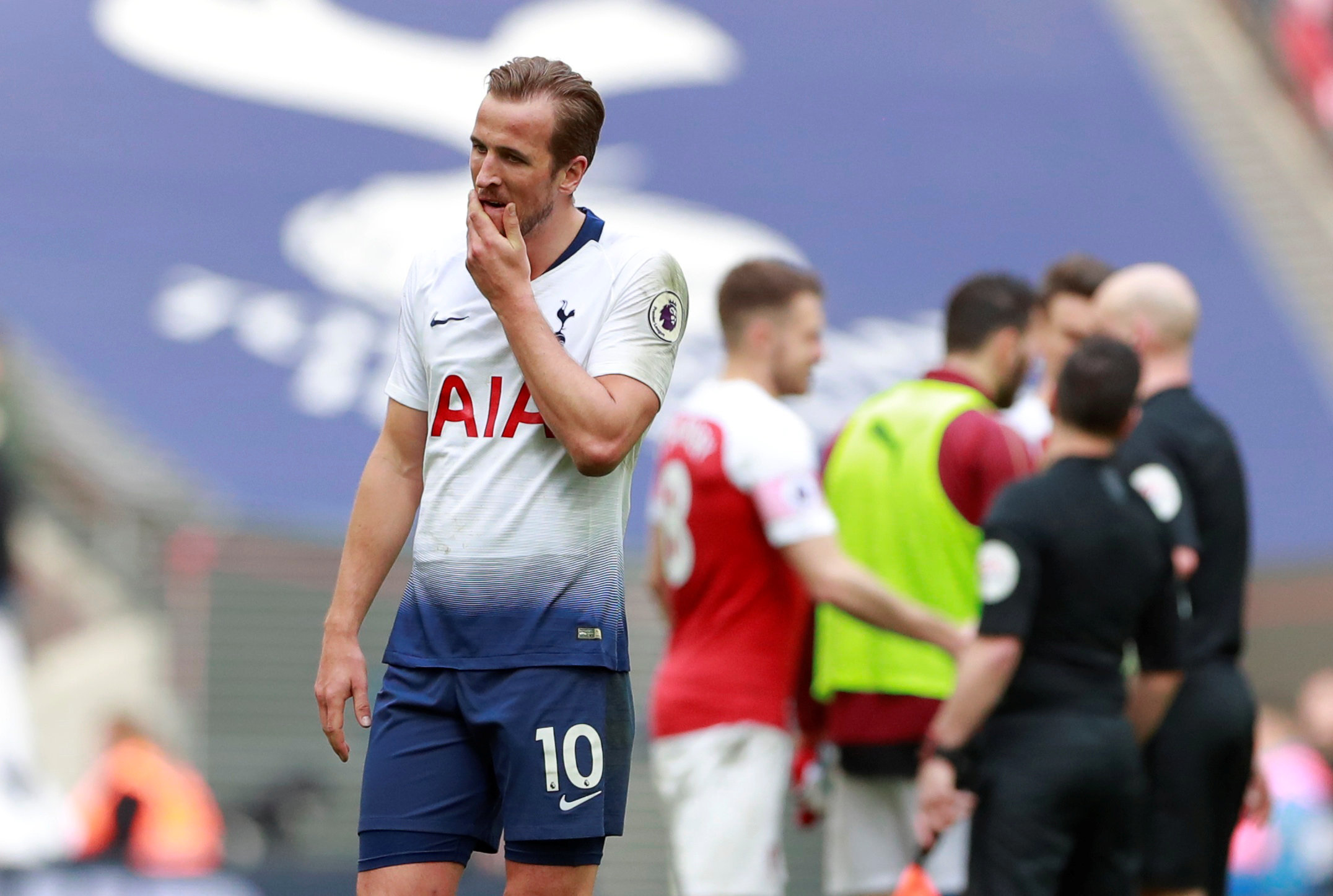 Harry Kane reflects after Spurs' draw against Arsenal. Picture: Action Images