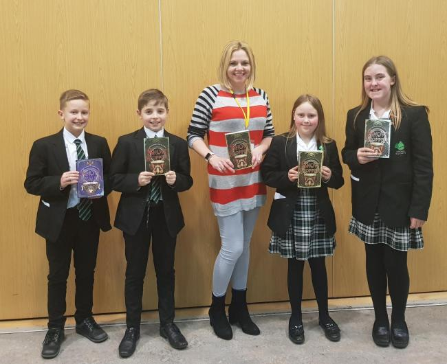 Hayley Barker spoke with Epping St John's students on World Book Day