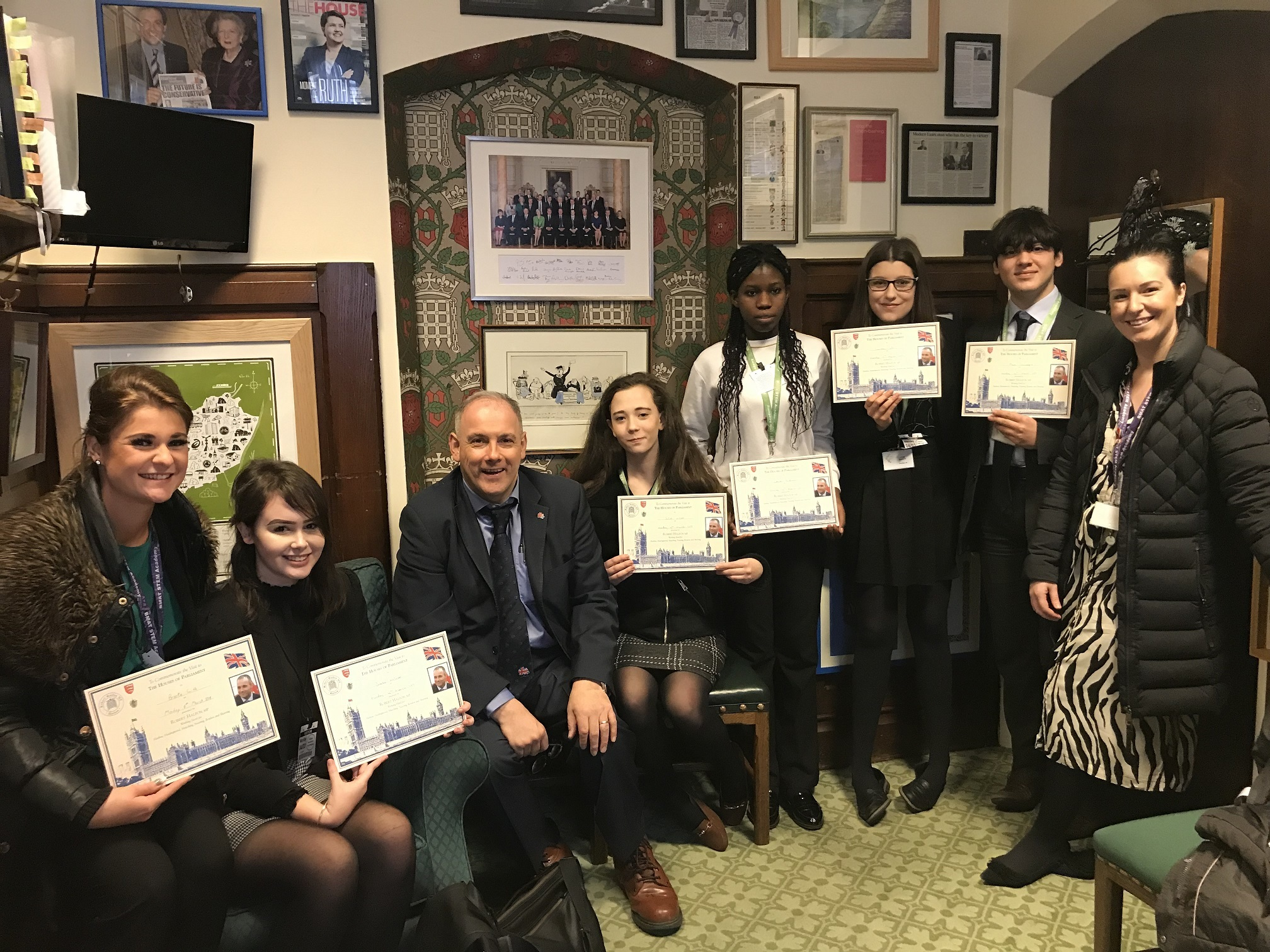 Year 10 students at BMAT STEM Academy, based at Harlow College, went to Parliament