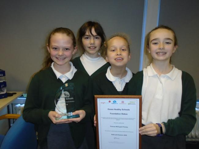 Thomas Willingdale School in Loughton recieved a trophy and certificate for their achievment