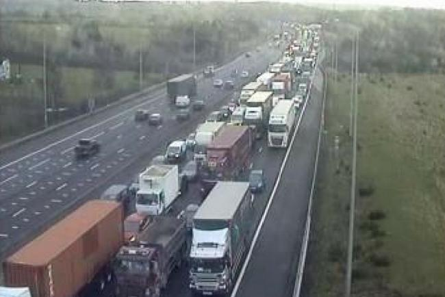 The M25 saw heavy build ups from the colliosion last March