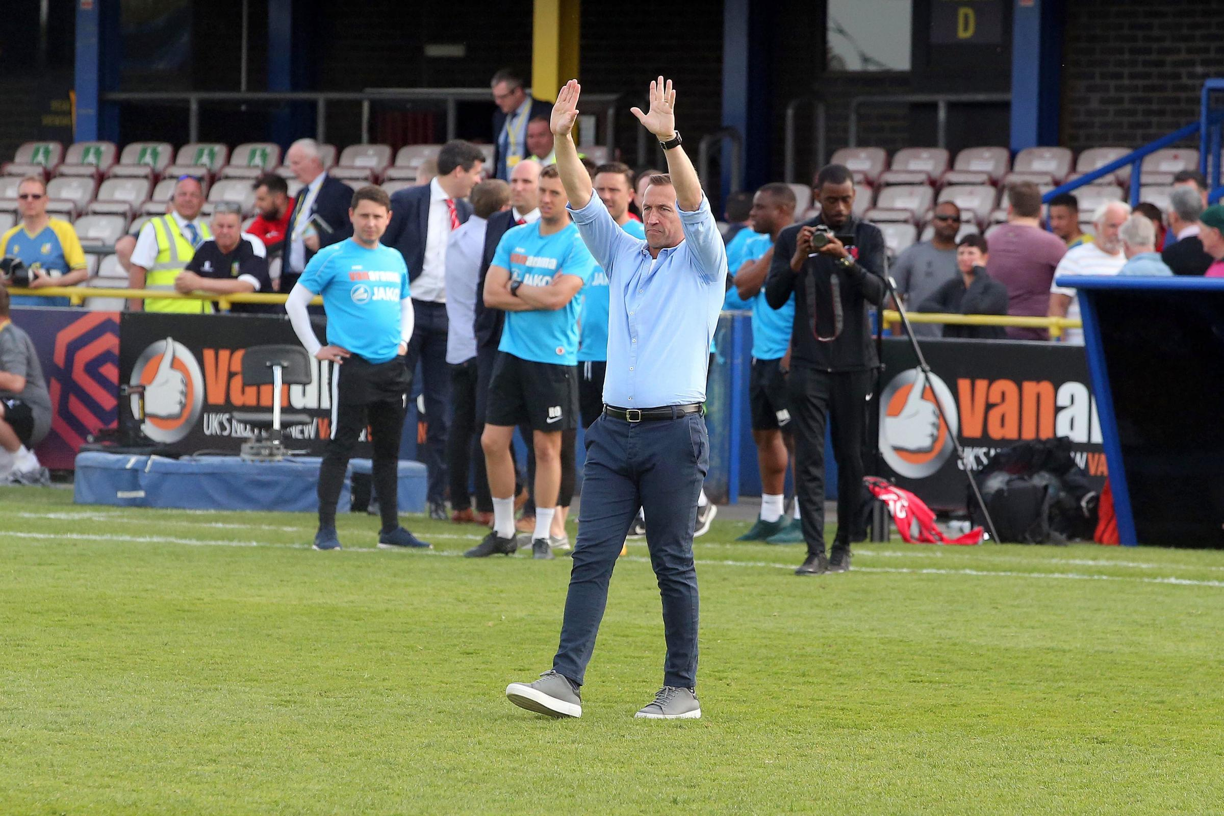 Justin Edinburgh hailed his squad players after Leyton Orient sealed promotion back to the Football League. Picture: Simon O'Connor