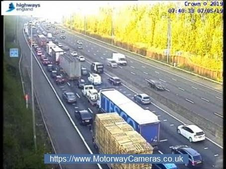 M25 anticlockwise at j17, Rickmansworth. Photo: Highways England