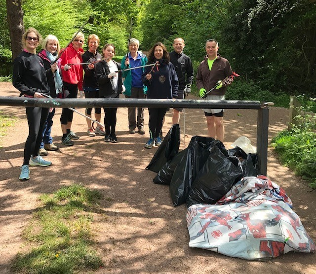 Epping Forest Ploggers filled up all tyheir rubbish within the hour