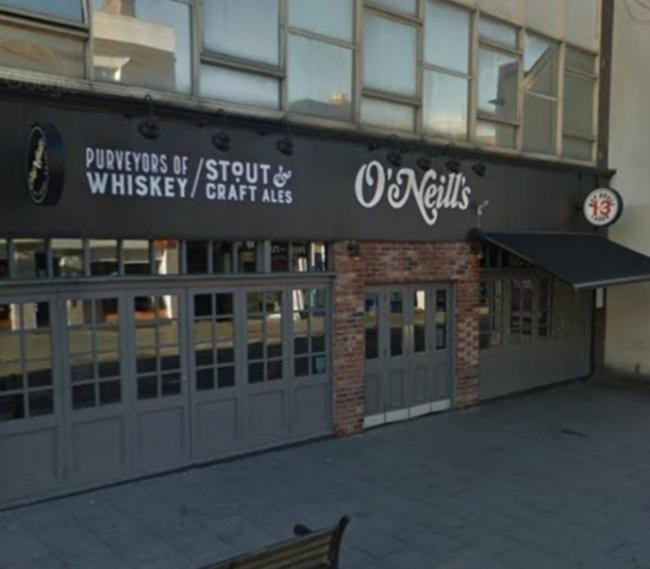 The incident took place at O'Neill's on Brentwood High Street, Sunday, April 14